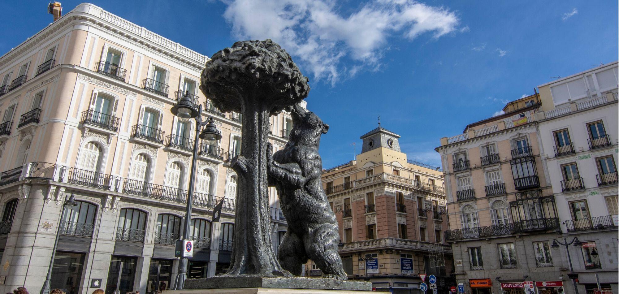 Puerta del Sol. Centrum słonecznej Hiszpanii