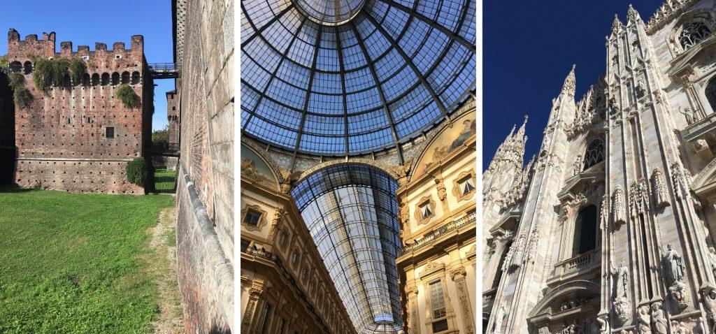 Mediolan - Castello Sforzesco / Pasaż Wiktora Emmanuela II / Duomo di Milano