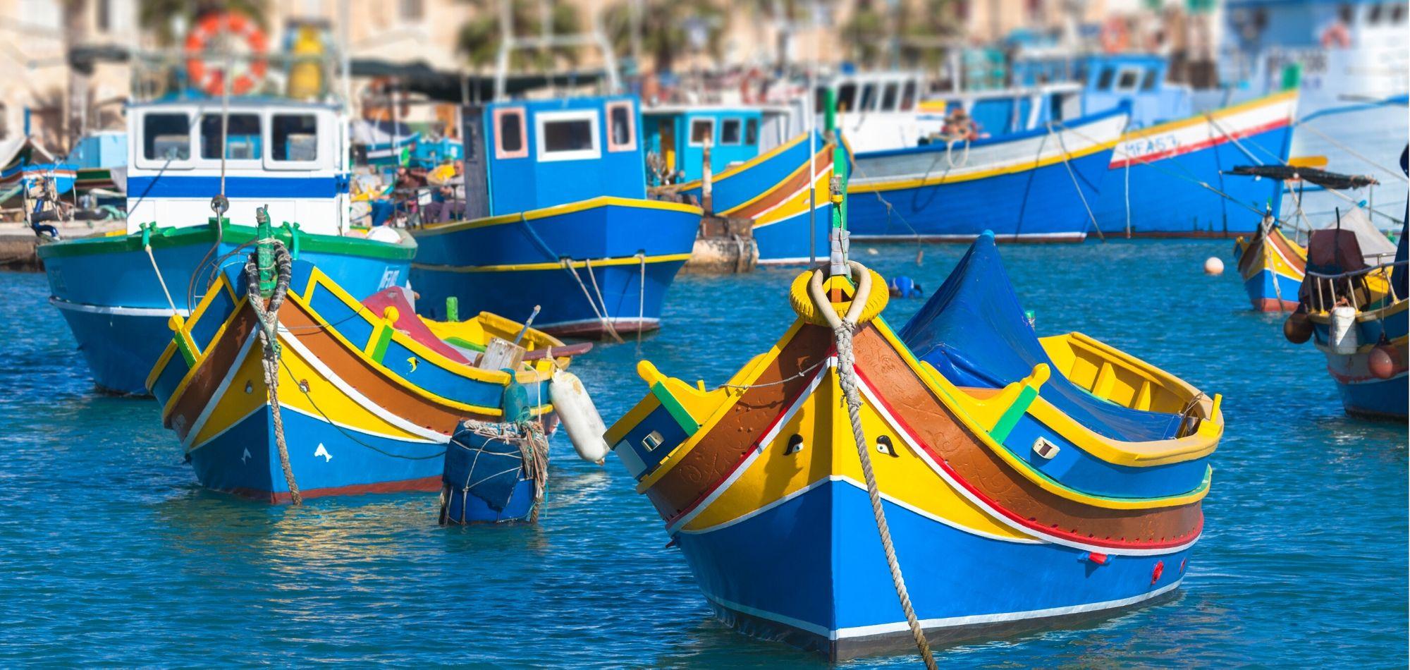 Luzzu. Maltańskie łódeczki z Marsaxlokk