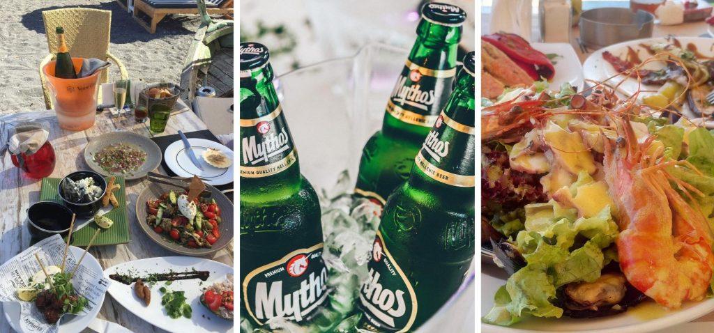 Grecka kuchnia - przekąski meze, piwo mythos i owoce morza