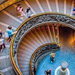 Spiralna klatka schodowa w Watykanie