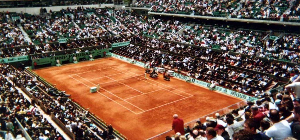 Korty im Rolanda Garrosa w Paryżu