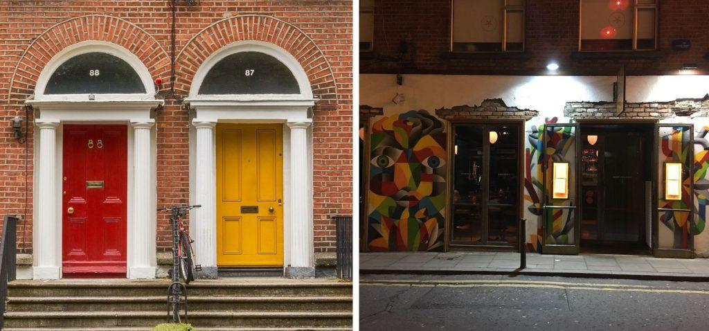 Dublin - kolorowe drzwi