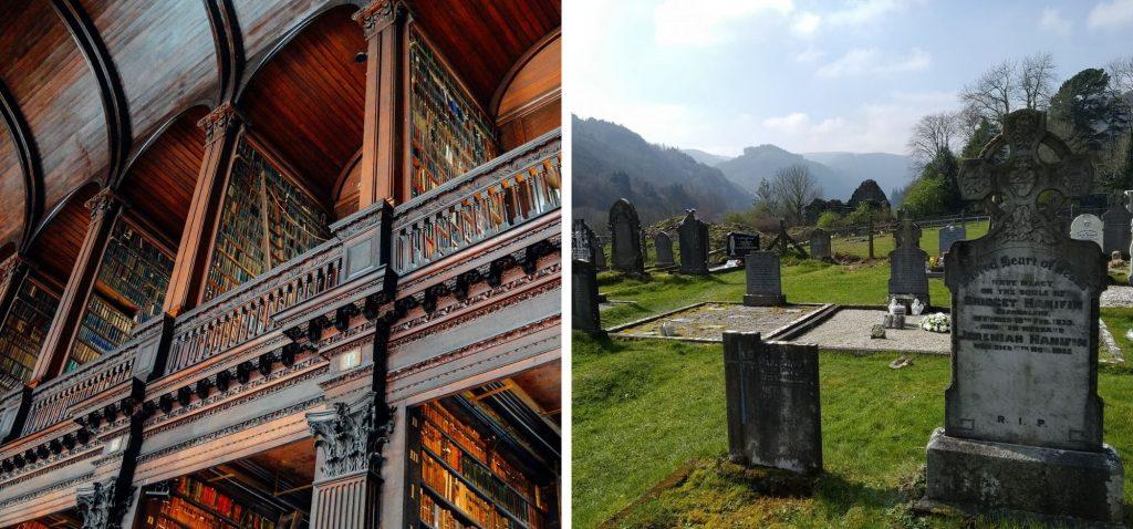 Biblioteka Trinity College oraz celtycki cmentarz