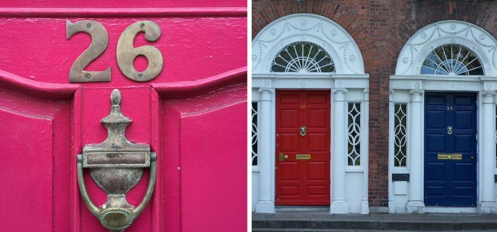 Kolorowe drzwi Dublina