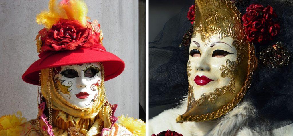 Misternie zdobione maski to symbol karnawału w Wenecji