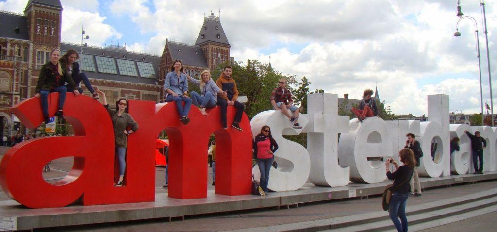 Napis I AMsterdam