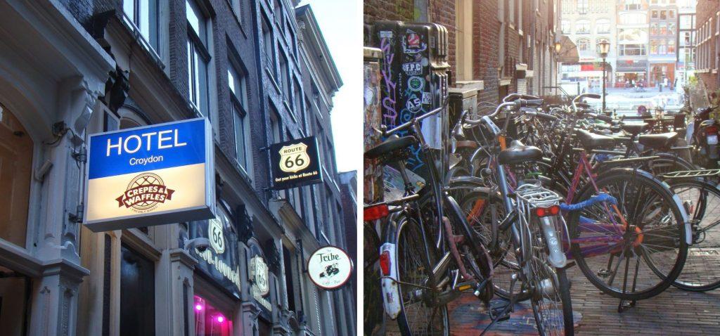 Amsterdam - nasz hotel i rowery