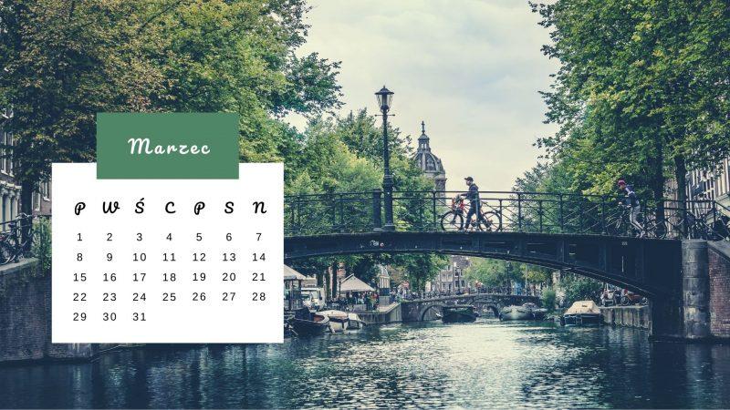 Kartka z kalendarza: Mosty i kanały w Amsterdamie