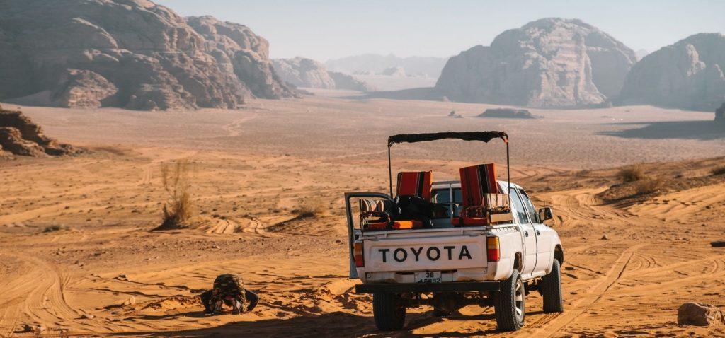 Jeep Safari na pustyni Wadi Rum