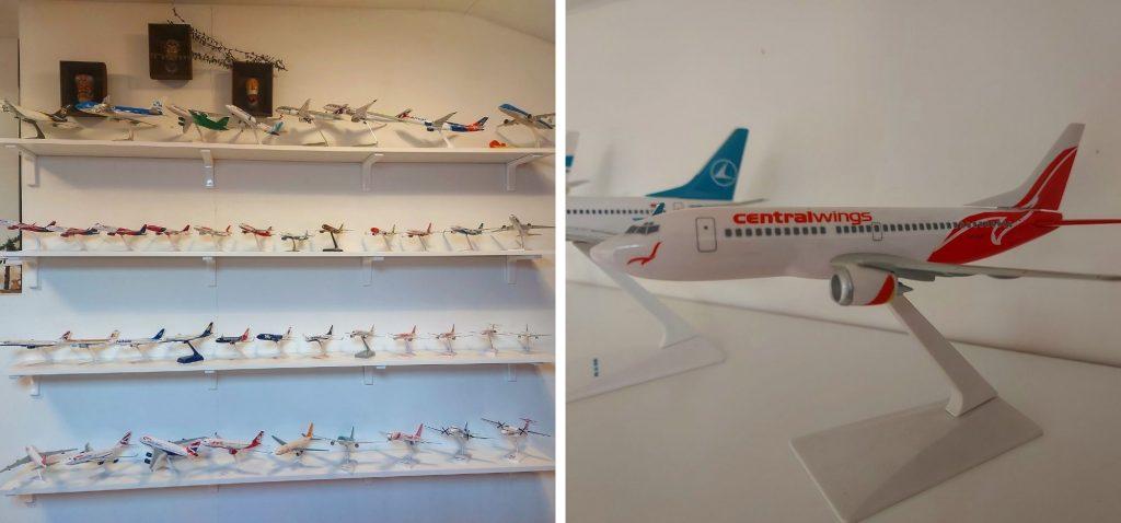 Kolekcja modeli samolotów
