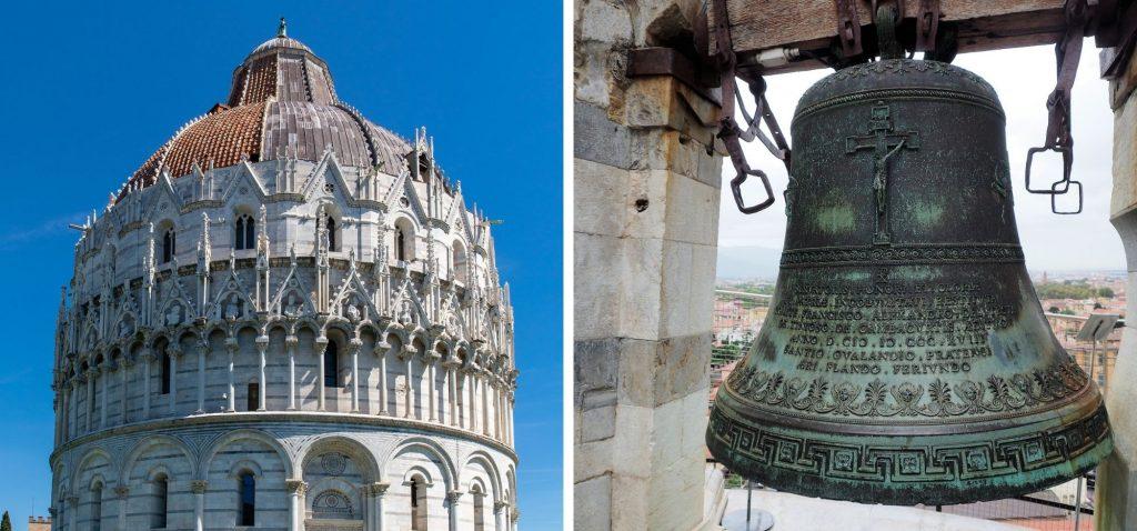 Jeden z dzwonów i Baptysterium św. Jana