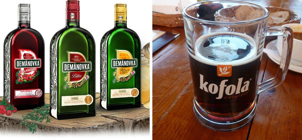 Słowacka kuchnia - kofola i nalewki