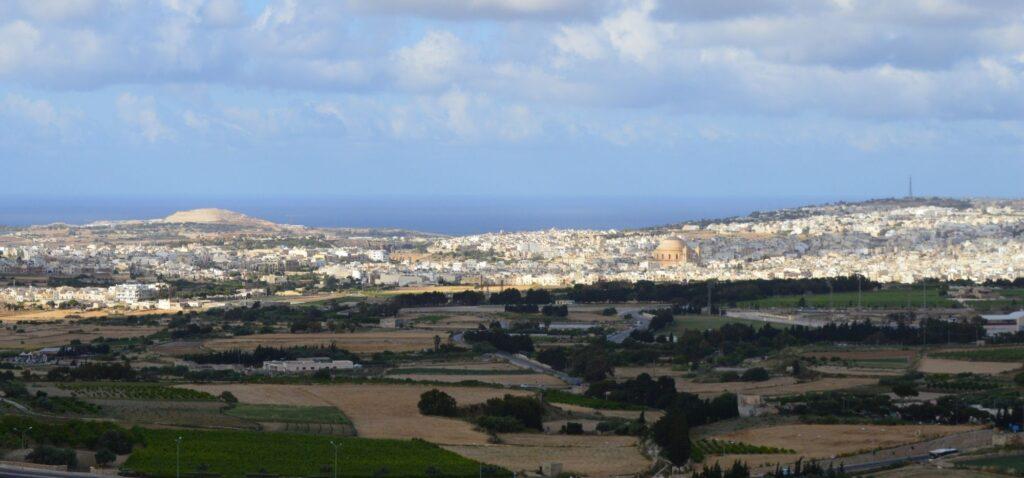 Mdina - widok z tarasu widokowego