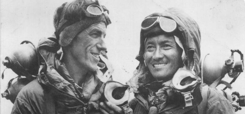 Edmund Hillary i Tenzig Norgay - zdobywcy Mount Everest