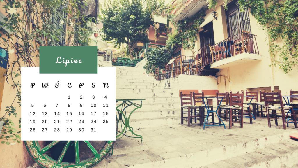 Kartka z kalendarza - Lipiec 2021 - Plaka