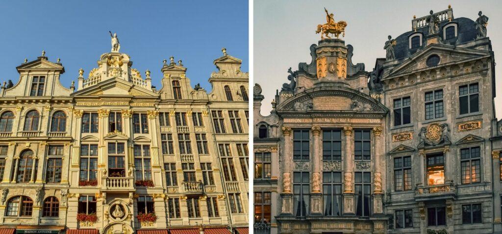 Zabytkowe kamienice na Grand Place w Brukseli