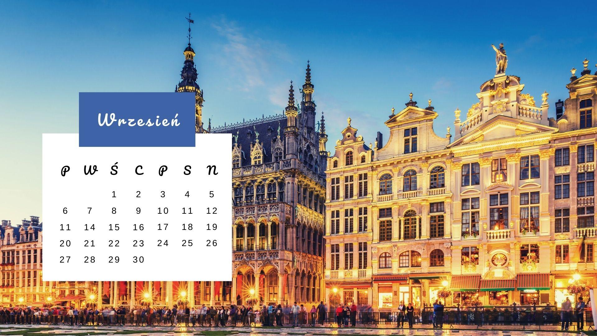 Kartka z kalendarza: Grand Place w Brukseli