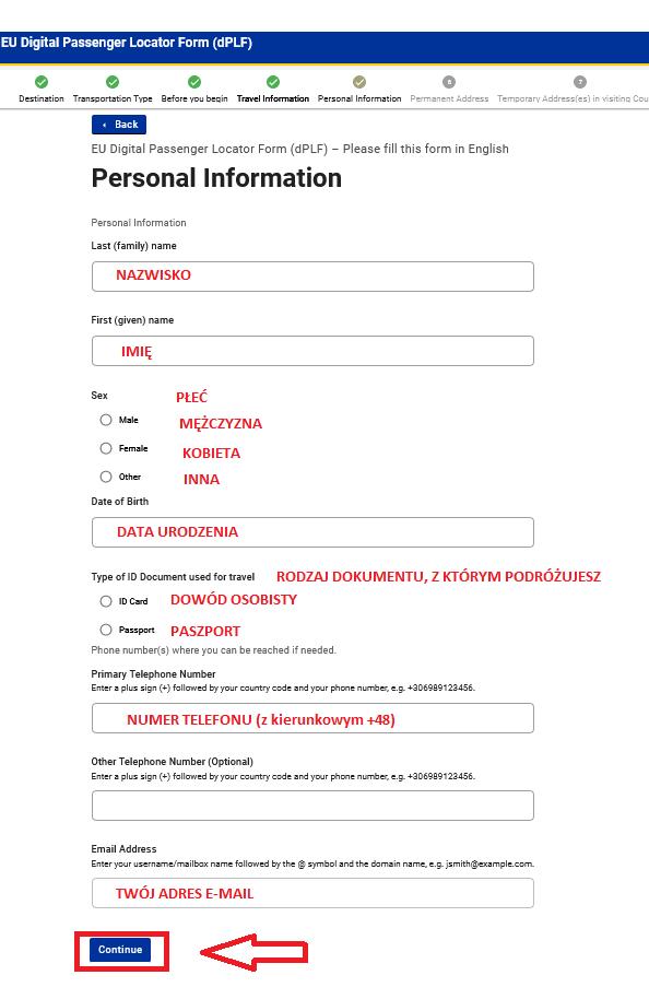 Formularz dPLF Malta - instrukcja krok po kroku